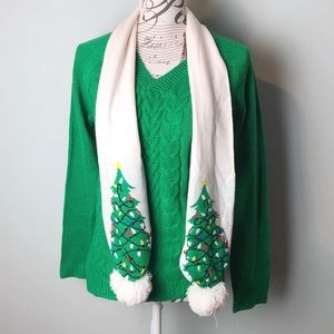 Merrywear sweater with scarf holiday Christmas